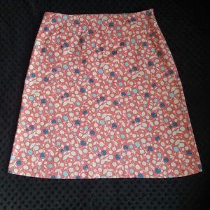 Boden cherry print a-line skirt